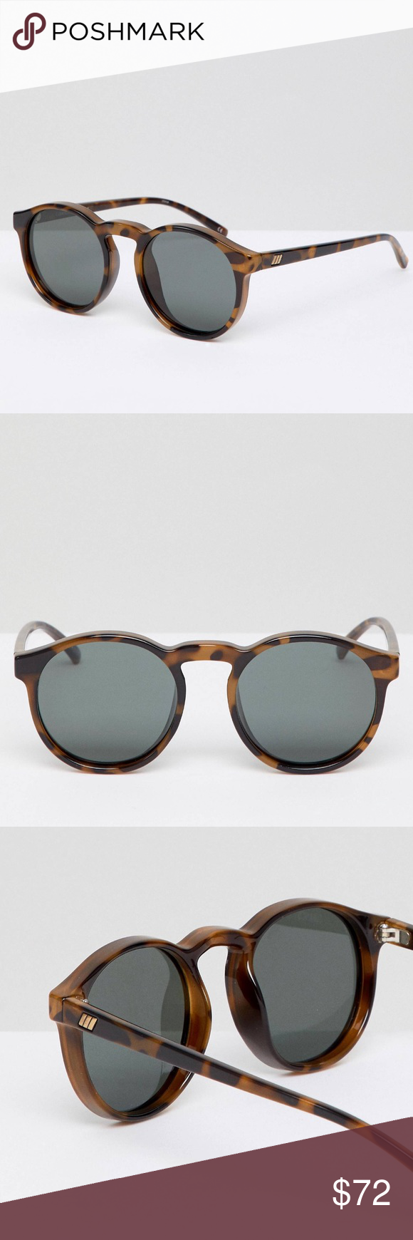 868692ae84c Le Specs Round Polarized Sunglasses Milky Tort Brand new! Cubanos sunglasses  tortoise black brown Le Specs Accessories Sunglasses
