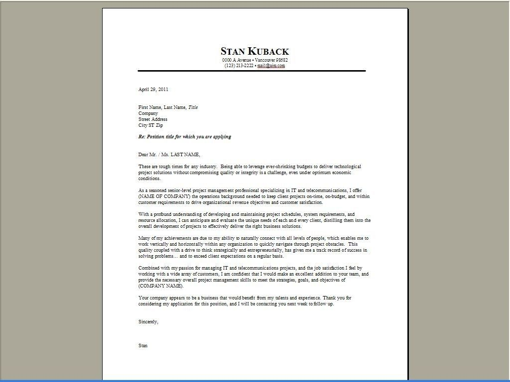 jimmy sweeney cover letters free