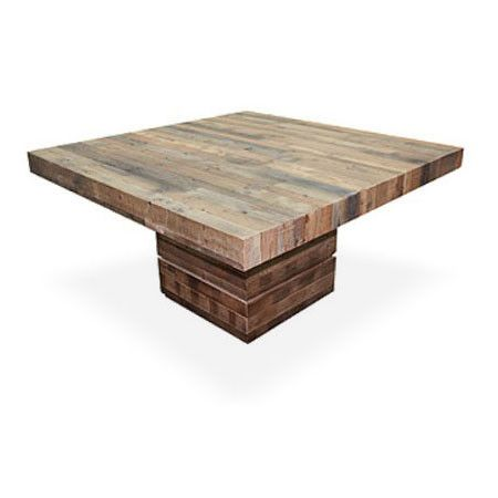 Square Dining Table runyon | square dining tables, geometric form and wood planks