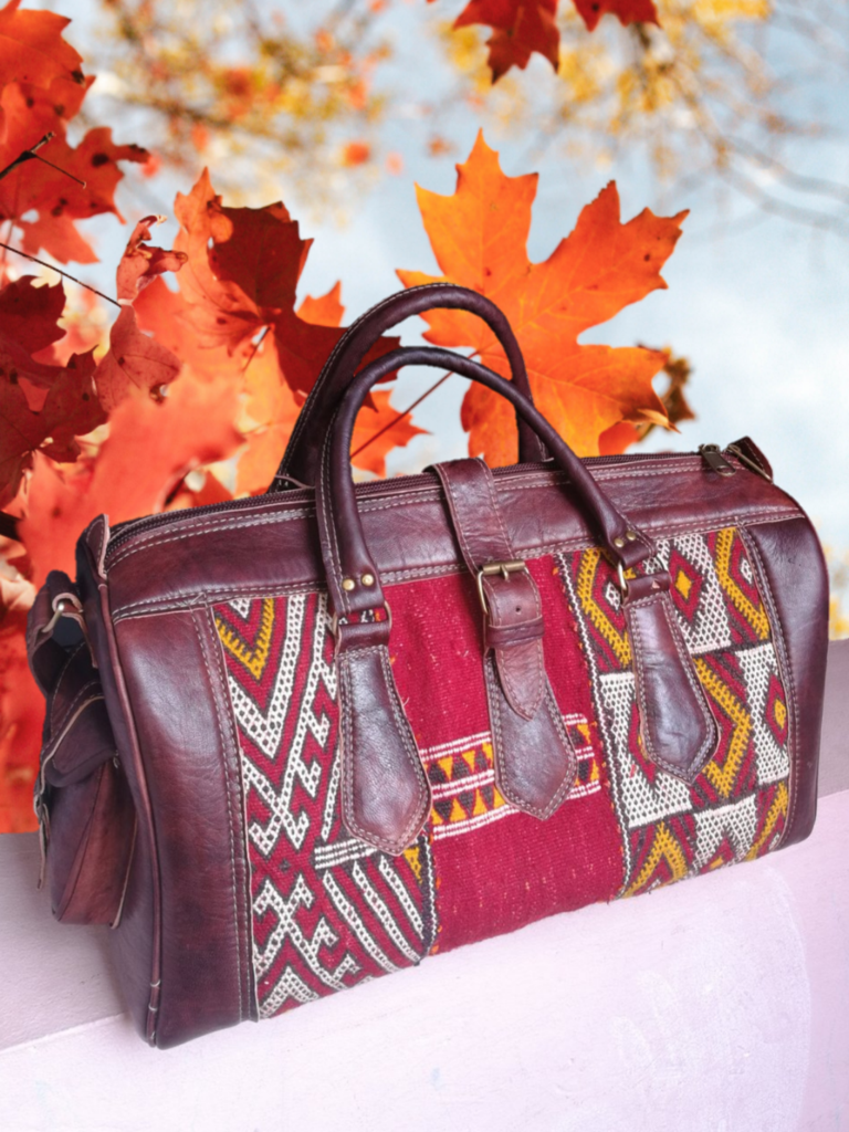 Moroccan Bags Leather bags Leather Bags Rug kilim,Shoulder Bags. Black bags Handbags Travel Bags Leather backpack