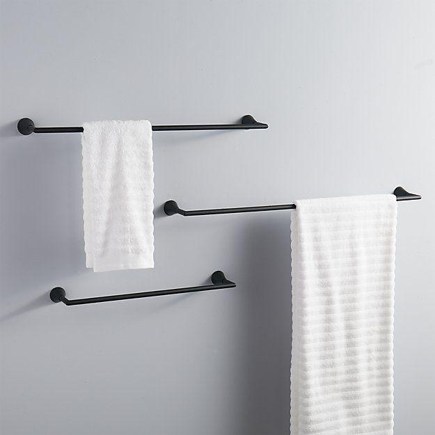 Shop Black Towel Bars Clean Straightforward Silhouette In Modern