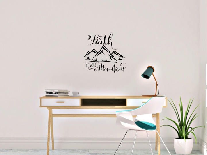 Faith moves Mountains by AnnieMadeVinyl on Etsy