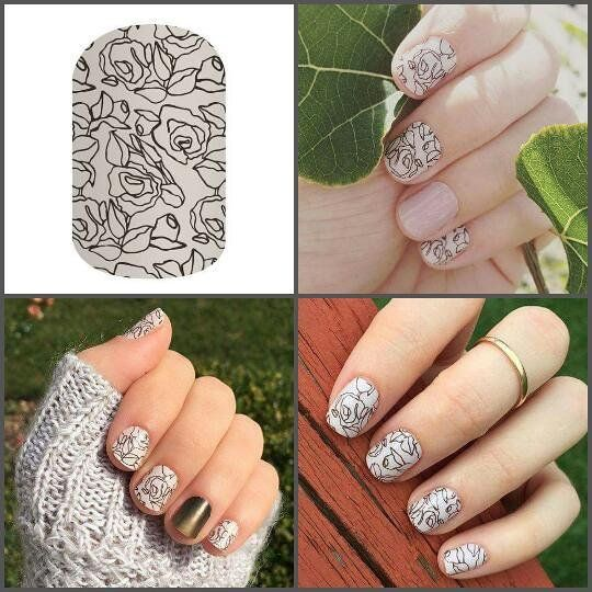 Sketched with love #sketchedwithlovejn #manicure #monochrome #sketch #blackandwhite #matte #roses #jamicure #nails #nailwraps #nailart #nailswag #jamberry #jamberrynails #jamwithkirky
