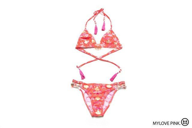 aacec698da Authentic Hipanema Mylove Pink swimsuit bikini from the Amenapih  collection. Grab all the attention with the-one-and-only Hipanema bikini,  ...
