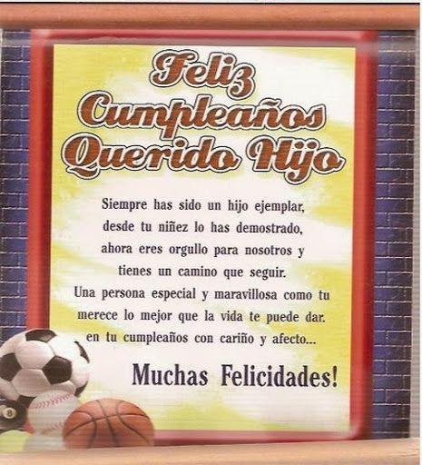 Felicitaciones De Cumpleaños Para Un Hijo Feliz Cumpleaños Mi Hija Felicitaciones De Cumpleaños Hija Cumpleaños Hijo