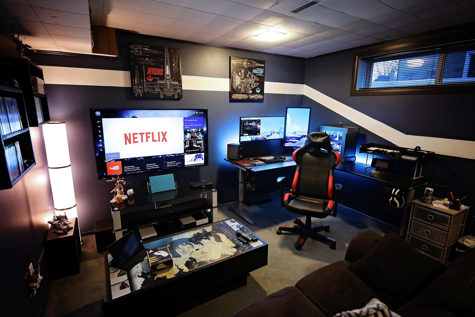 Deco Chambre Gamer Battlestation Imgur Pc Gaming Pinterest Mesas De