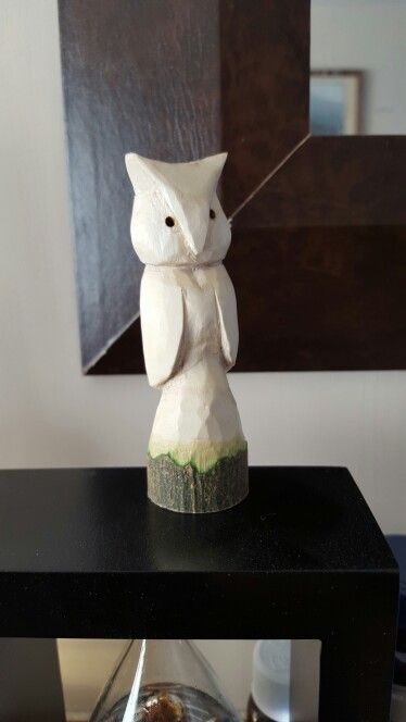 Whittling Practice A Quick Owl Made From A Branch Found Locally