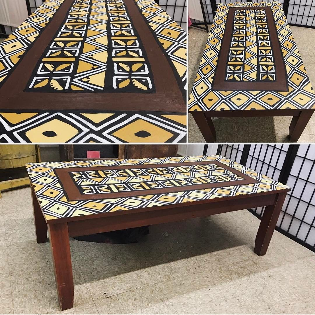 Another Hand Painted Nzo African Style Piece By Uhuru Furniture