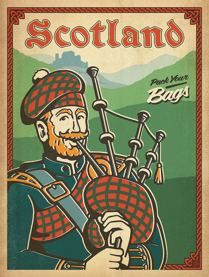 Scotland vintage travel poster designed by the Anderson ...