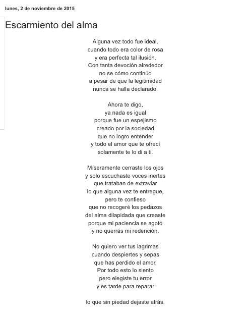 Escarmiento del alma por Diana García Botero