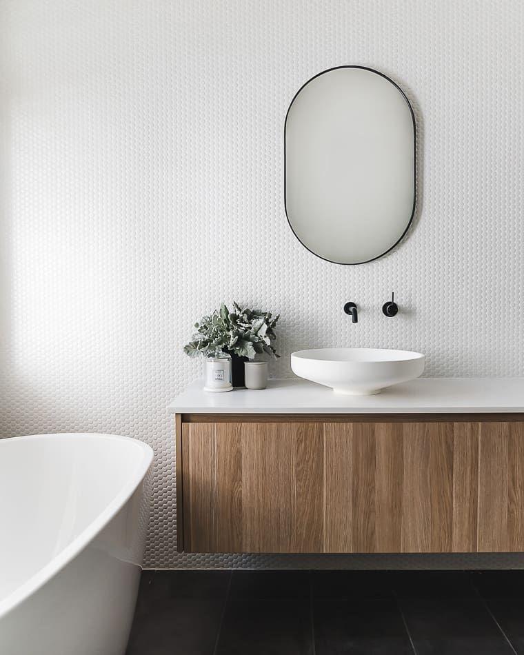Photo of These Penny Tile Bathroom Backsplash Ideas Pack a Big Punch   Hunker