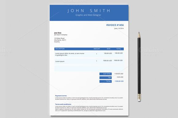 graphic design invoice template pdf – notators, Invoice examples