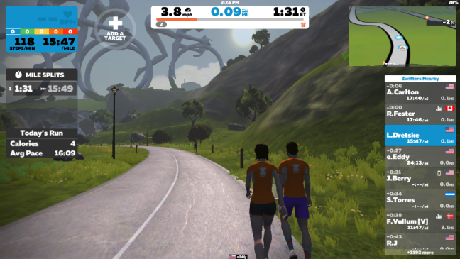 Zwift into the New Year Review of Zwift Runpod and App