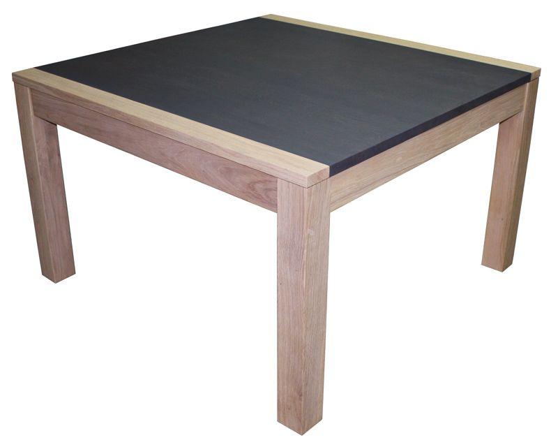21551 Table De Repas Carree 125 Chene Defibre Blanchi Gris Cendre Anthracite Bois Massif 1 Allo Table De Repas Carree Table Repas Mobilier De Salon