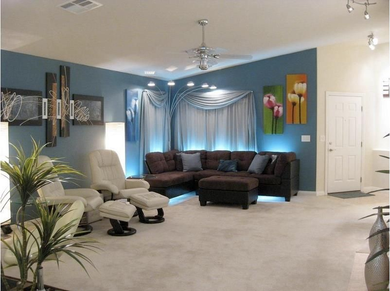 Use Led Strip Lighting By Inspired Led Behind And Under The Couch
