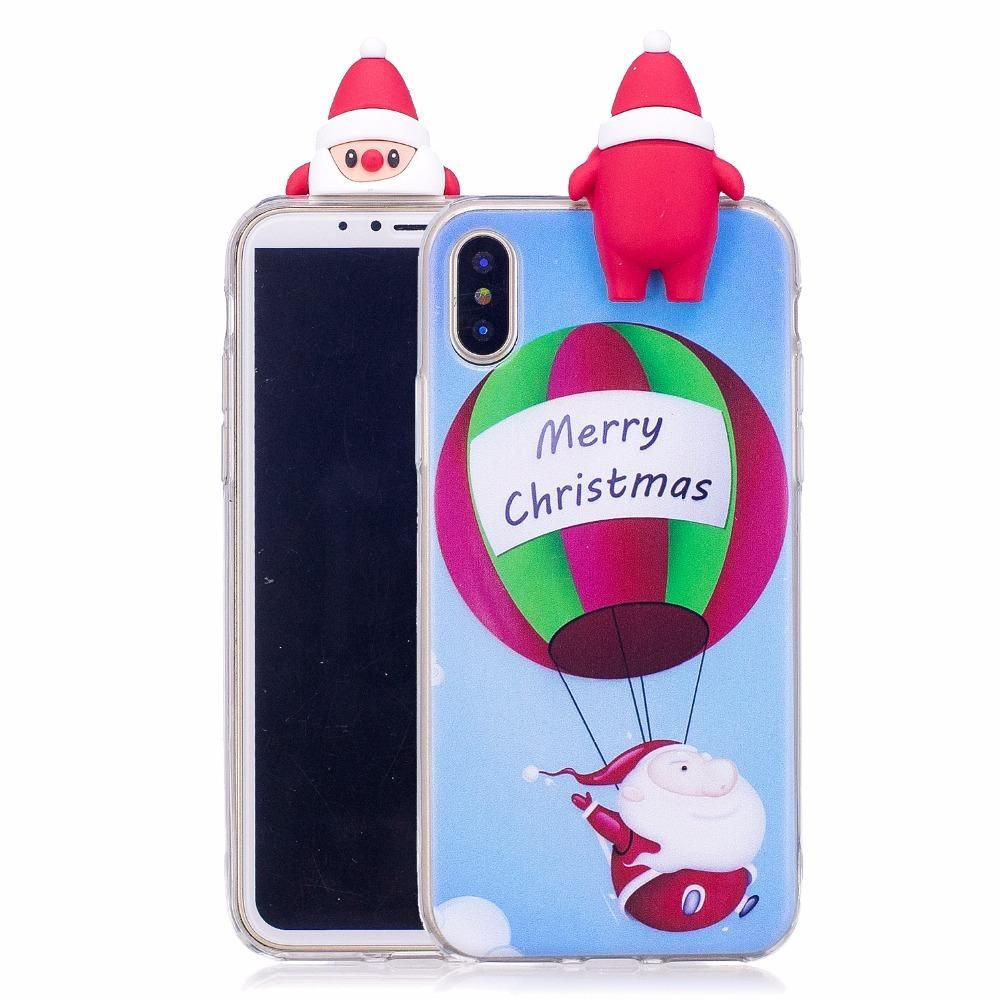 3d Merry Christmas Soft Silicone Case For Iphone X 8 8p 7 7p In 2018 Goospery Hybrid Dream Bumper Red