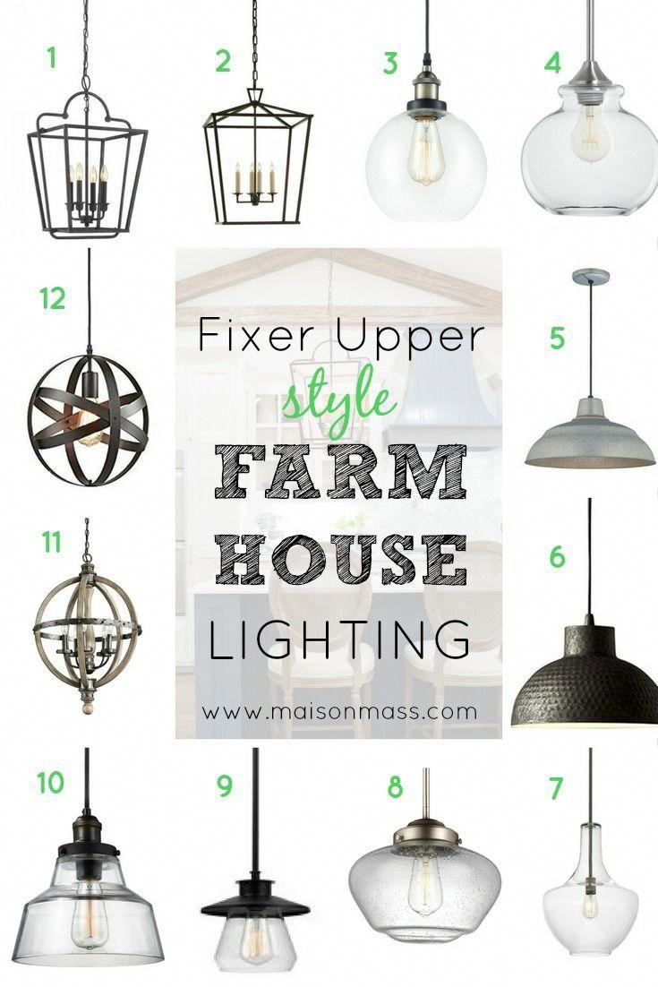 Fixer Upper Style Farmhouse Lighting • Maison Mass
