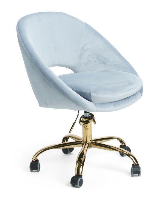 Noura Velvet Office Chair Velvet Office Chair Chair