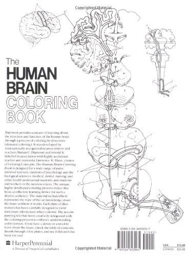 amazon prime now the human brain coloring book cos 306 9780064603065