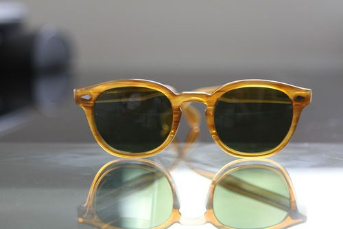 c549c150f1e Moscot Lemtosh Blonde with Caliber Green Lenses Sunglasses Accessories
