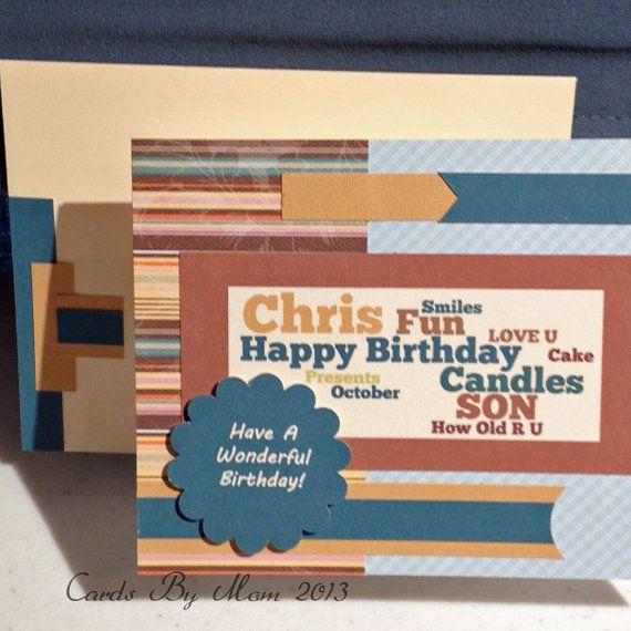 Personalized Birthday Card Custom Made Handmade Card Greeting