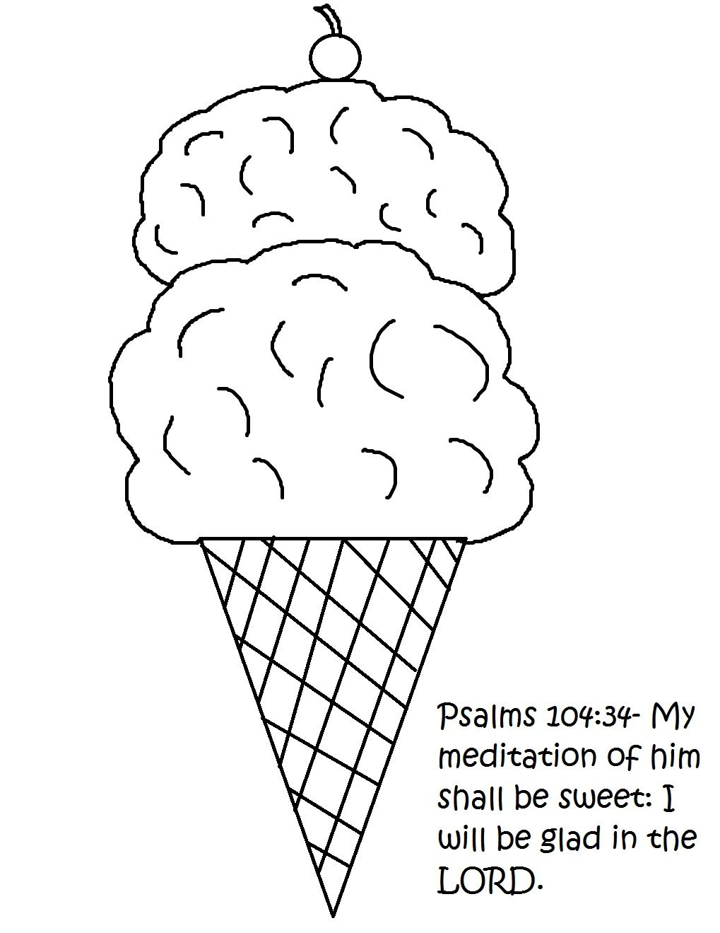 Jesus is sweet! Let the kids decorate ice cream cone with