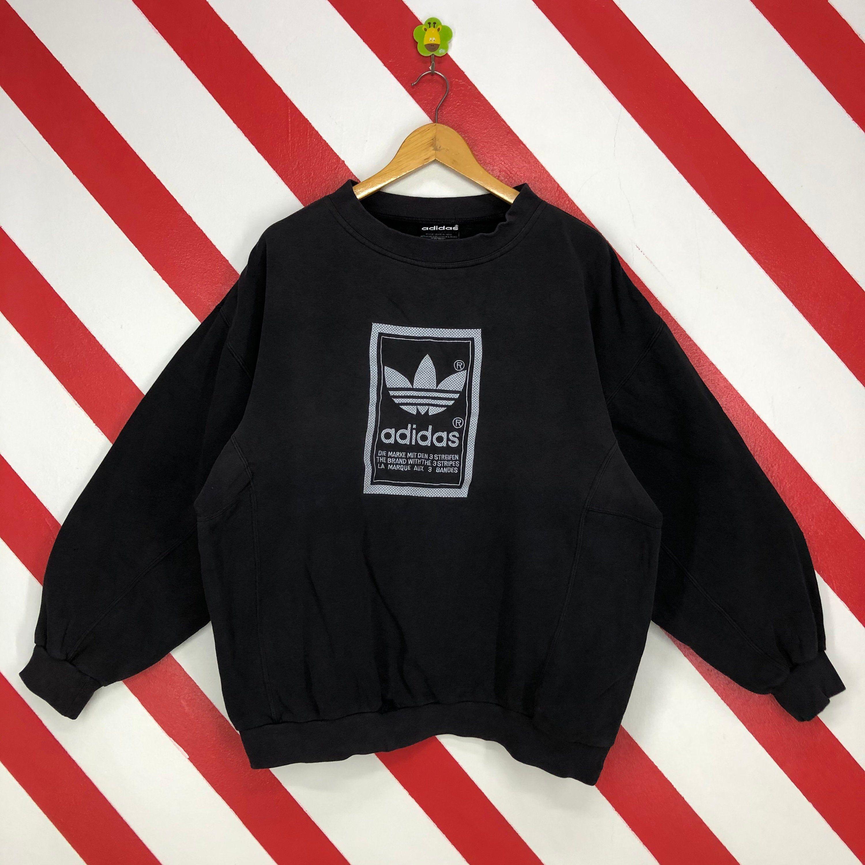 Vintage 90s Adidas Sweatshirt Crewneck Adidas Trefoil Sweater Etsy Sweatshirts Adidas Sweatshirt 90s Sportswear [ 3000 x 3000 Pixel ]