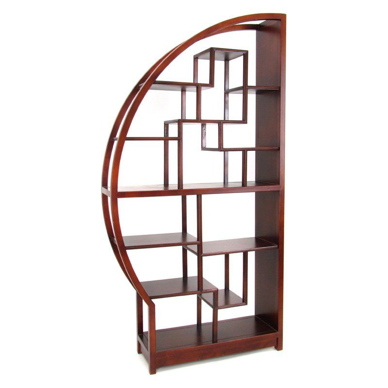 Have to have it wayborn etagere half moon display bookcase room divider ideas for the - Half wall bookcase room divider ...