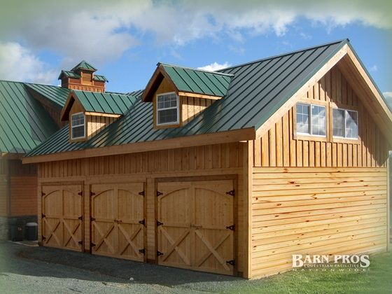 Wood Garage Kits Custom Shops Barn Pros Barn House Prefab