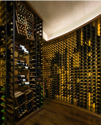 Fluorescent Backlit Wine Bottles Add A Lot Of Drama Wine Cellar
