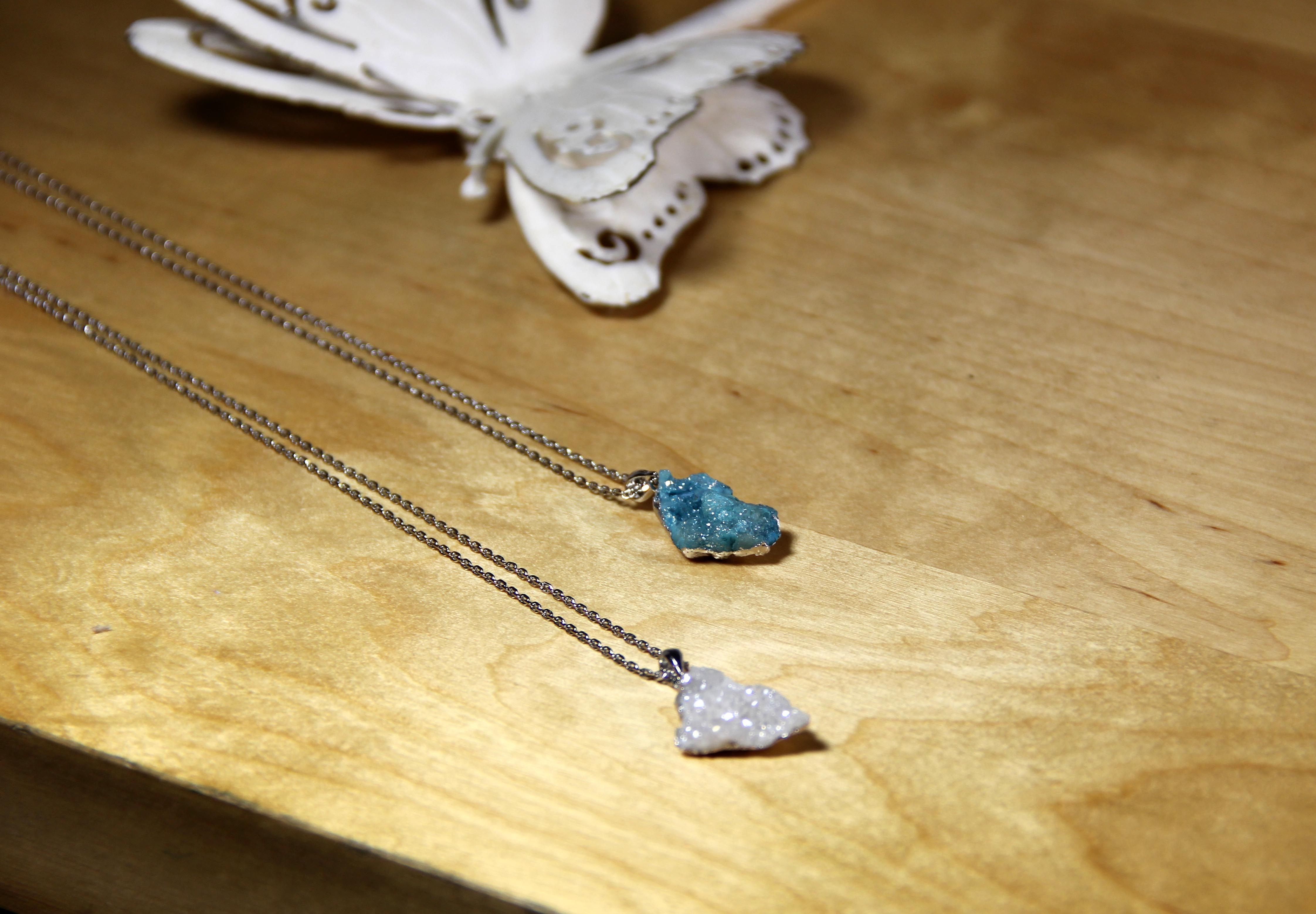 druzy summer necklace