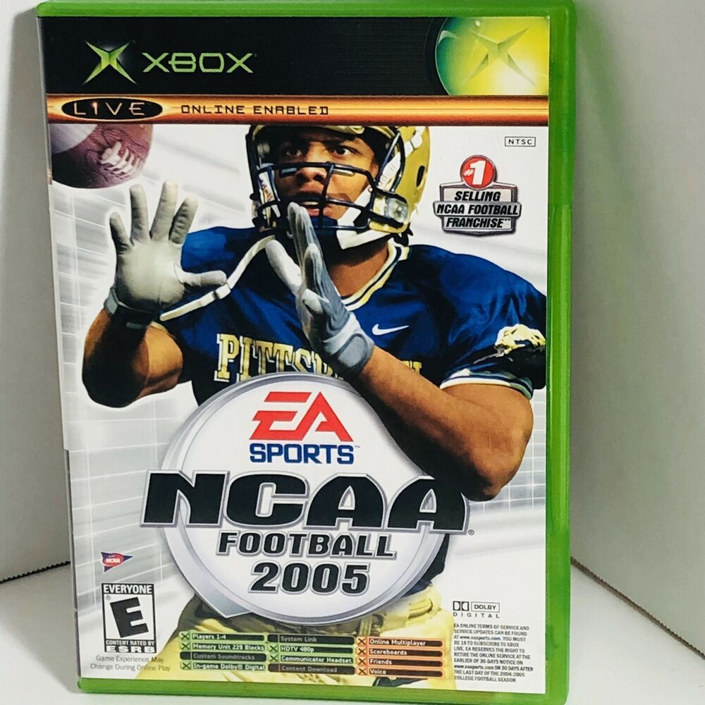 Ncaa football 05top spin original xbox game untested in