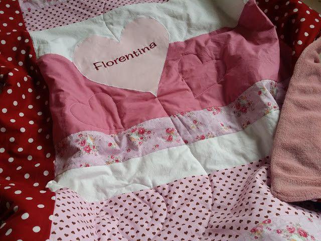 """Babydecke """"Florentina"""" - Patchworkdecke 120x120cm von WaldundWiesenkinder auf DaWanda.com"""