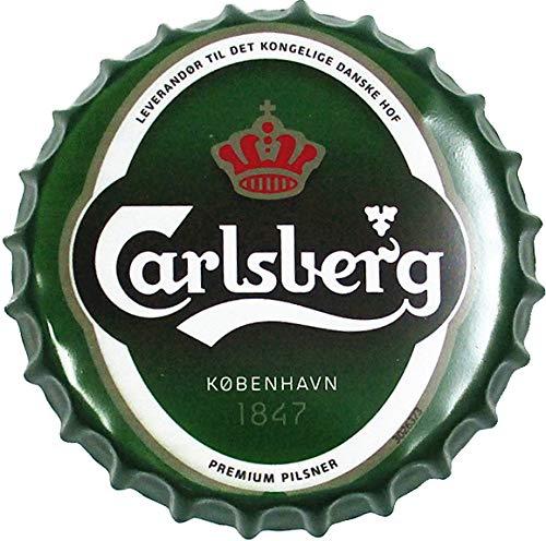 Buy Vinoxo 35cm Carlsberg Large Metal Tinplate Beer Bottle Caps Wall Hangings For Bar Restaurants And Home Decor Onlin Beer Bottle Caps Bottle Cap Beer Bottle