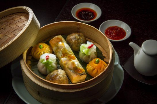 Have someone take you out for a proper Dim Sum meal. Pictured: The Vegetarian Dim Sum Platter at Hakkasan restaurant in San Francisco.