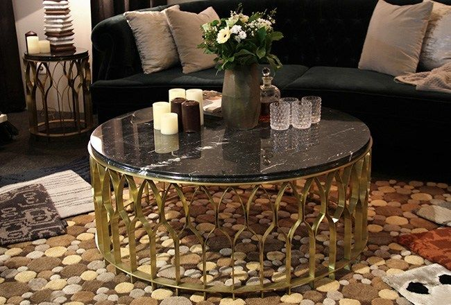 Low Round Coffee Table For Living Room Mecca By Brabbu Furniture