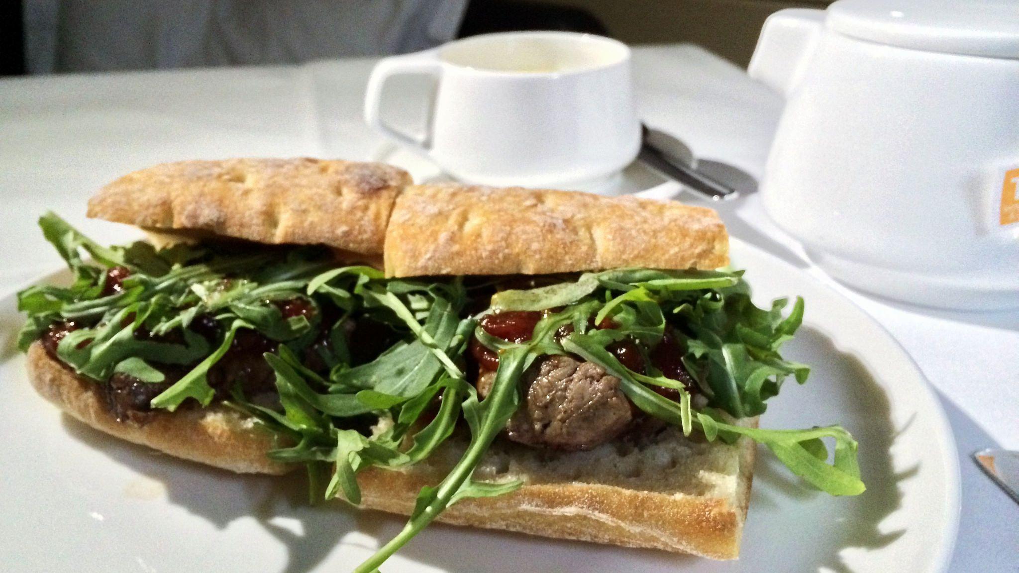 First class inflight meal qantas inflight meal
