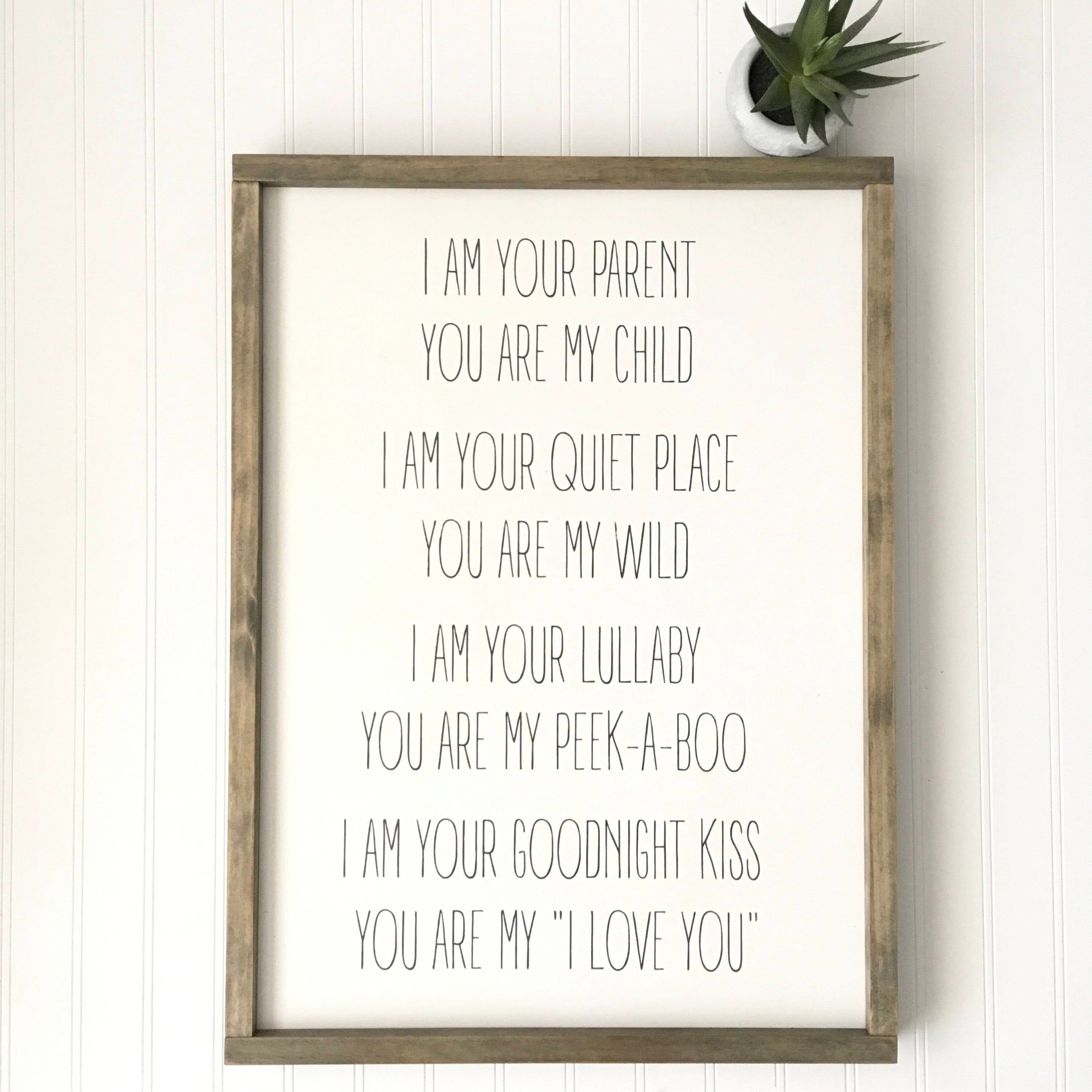 I am your parent you are my child sign gender nuetral
