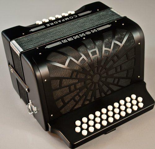 new hohner acordeon compadre black 5 letras bea 31 12 button accordion w case by hohner 739. Black Bedroom Furniture Sets. Home Design Ideas