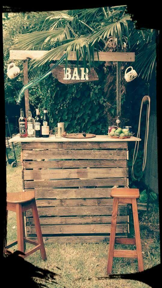 Barra Bar Palets Hostel Bar De Jardín Barra De Bar Y