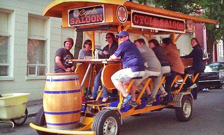 Group Party Bike Bar Tour Holy Fun Times Batman Let S Go
