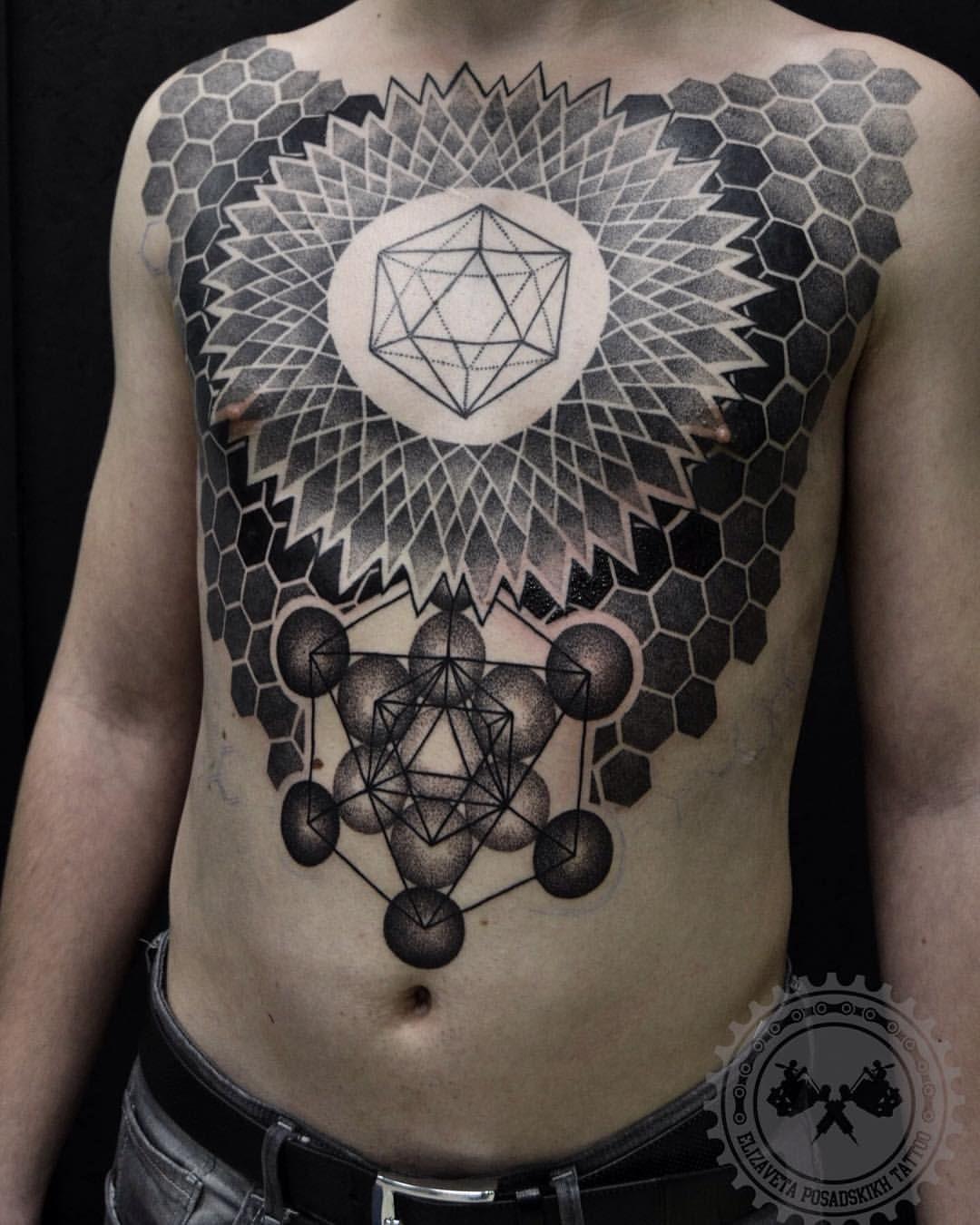ELIZAVETA POSADSKIKH Tattoos, Geometric tattoo, Body mods