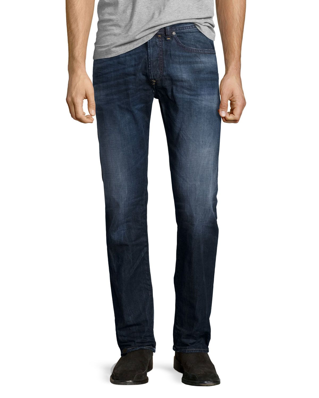0c704215 Diesel Buster L30 Faded Straight-Leg Jeans, Blue, Men's, Size: 31