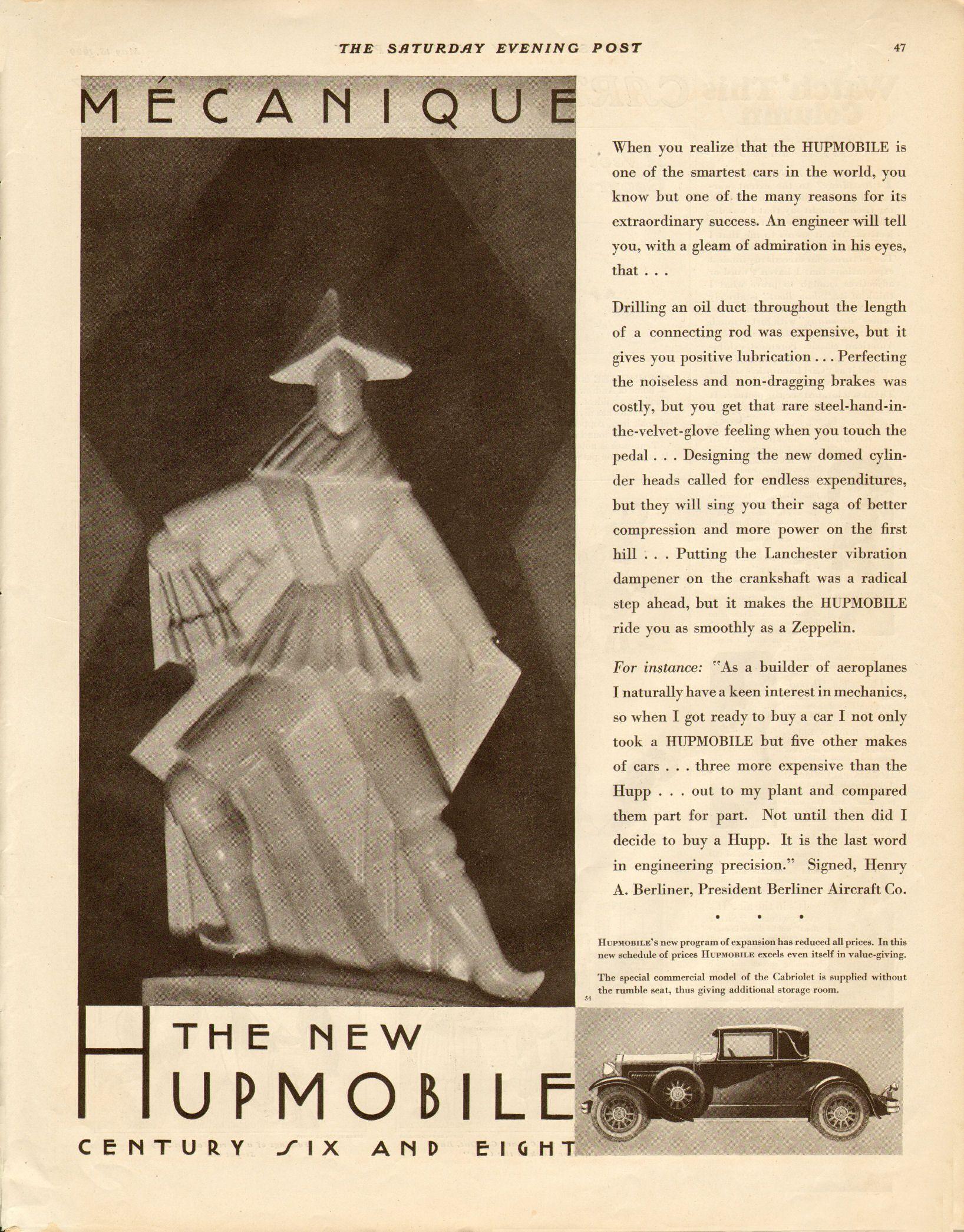 1929 Hupmobile Ad 08 Classic Cars 10 Classic Cars Ads Cars