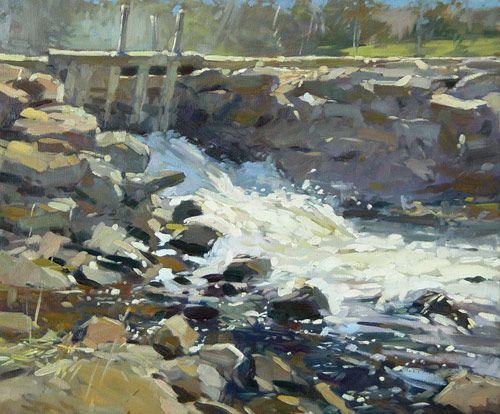 "Colin Page - Lermond Pond Dam 20x24"""