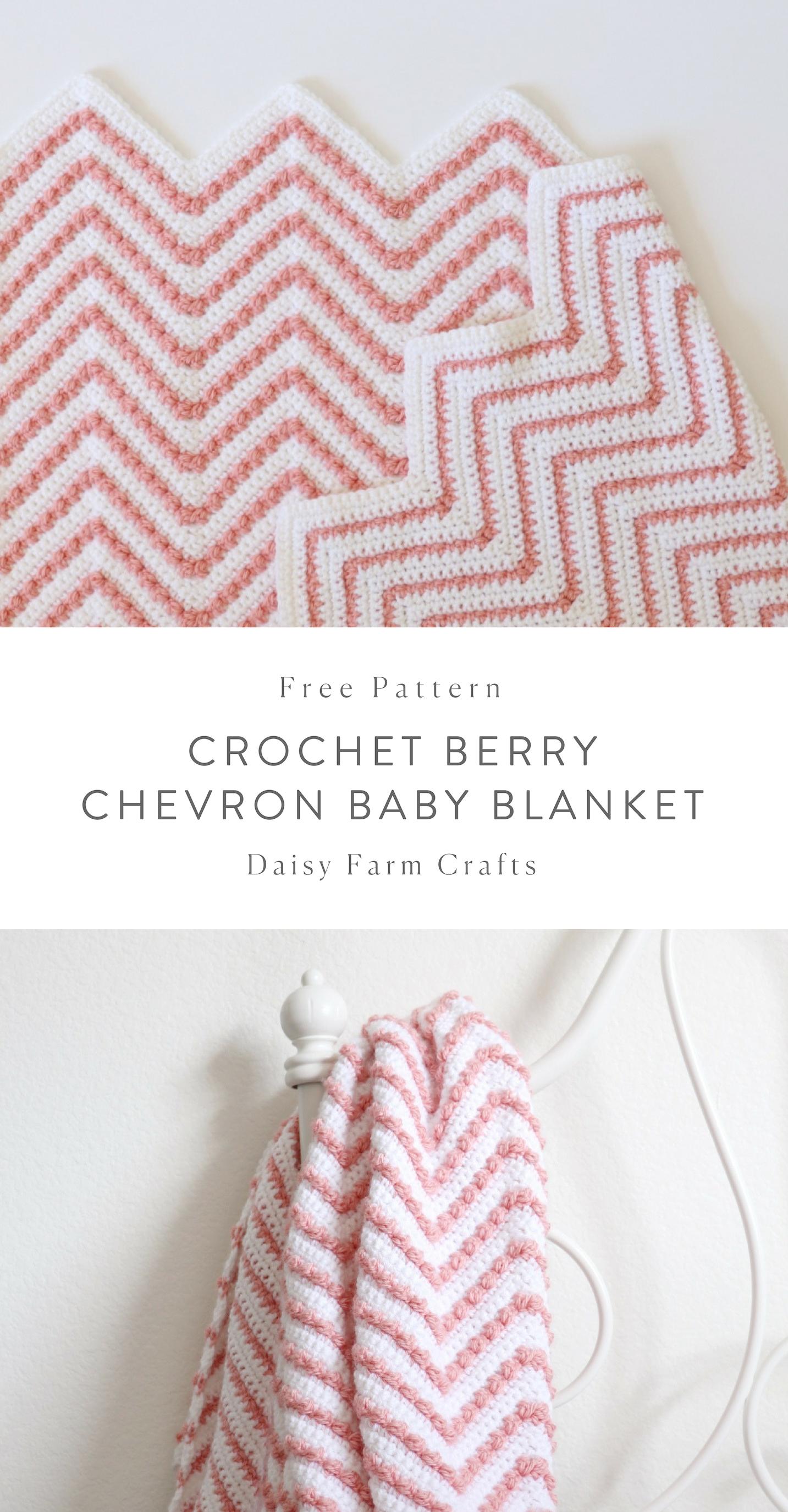 Free Pattern - Crochet Berry Chevron Baby Blanket | Free Crochet ...