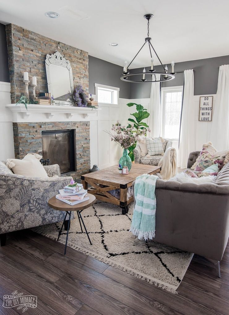 2019 Spring Home Tour Romantic French Country With A Modern Twist The Diy Mommy In 2020 Country Style Living Room Living Room Decor Country French Country Living Room