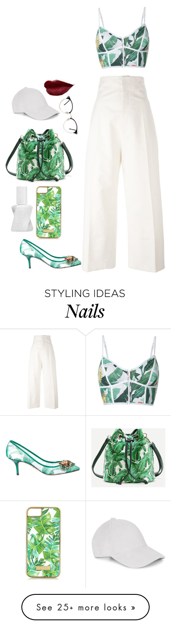 """294%"" by deliriousxdoc on Polyvore featuring Duskii, Dolce&Gabbana, Jacquemus, Skinnydip and Essie"