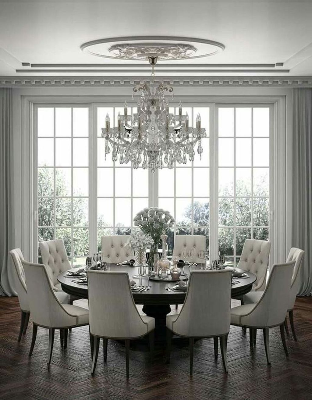 40 Cozy Dining Room Design Ideas That Looks Awesome Elegant Dining Room Dining Room Cozy Beautiful Dining Rooms