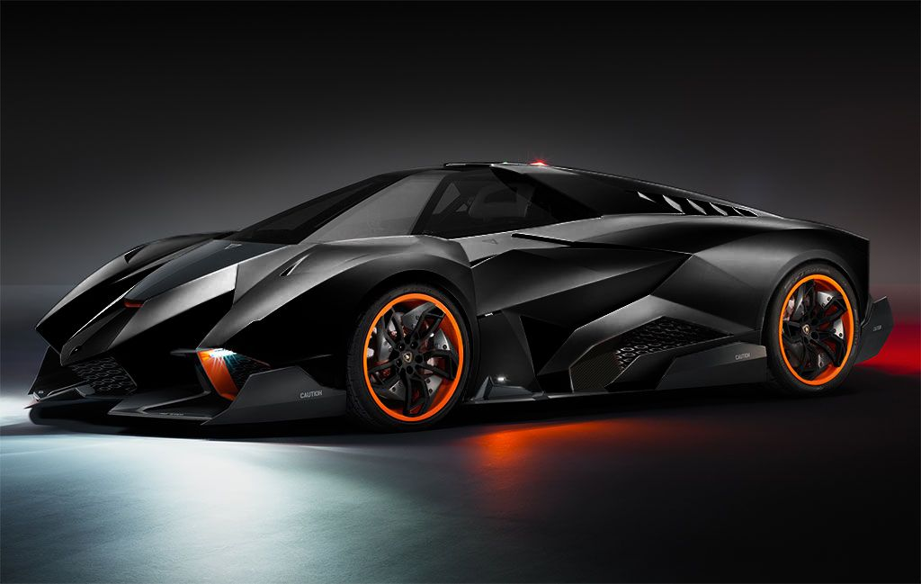 Gallery For U003e Lamborghini Egoista Black And Red